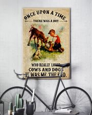 Boy Loved Cows And Dogs 24x36 Poster lifestyle-poster-7