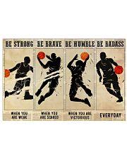 Basketball Be Badass 36x24 Poster front