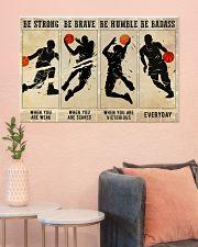 Basketball Be Badass 36x24 Poster poster-landscape-36x24-lifestyle-18
