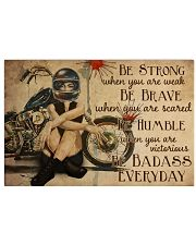 Motorcycle Girl Be Badass Everyday 36x24 Poster front