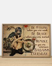 Motorcycle Girl Be Badass Everyday 36x24 Poster poster-landscape-36x24-lifestyle-03