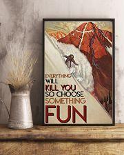 Alpine Skiing Choose Something Fun 24x36 Poster lifestyle-poster-3