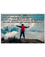 Mountaineering On This Hike 36x24 Poster front