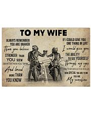 Biker To My Wife 36x24 Poster front