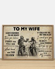 Biker To My Wife 36x24 Poster poster-landscape-36x24-lifestyle-03