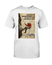And Into The Mountain I Go Classic T-Shirt tile