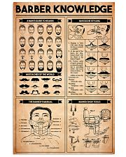 Barber Knowledge 16x24 Poster front
