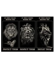 Lion Protect Them  36x24 Poster front