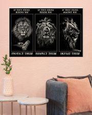 Lion Protect Them  36x24 Poster poster-landscape-36x24-lifestyle-18