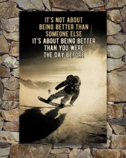 Snowboarding It's Not About 24x36 Poster aos-poster-portrait-24x36-lifestyle-16