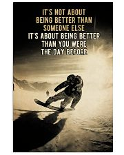 Snowboarding It's Not About 24x36 Poster front