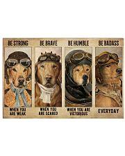Golden Retriever Pilot Be Badass 36x24 Poster front