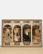 Golden Retriever Pilot Be Badass 36x24 Poster poster-landscape-36x24-lifestyle-03