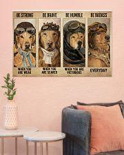 Golden Retriever Pilot Be Badass 36x24 Poster poster-landscape-36x24-lifestyle-18
