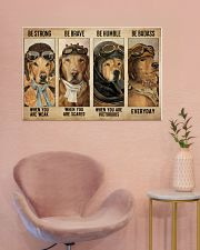 Golden Retriever Pilot Be Badass 36x24 Poster poster-landscape-36x24-lifestyle-19