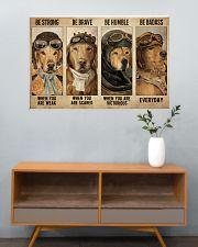 Golden Retriever Pilot Be Badass 36x24 Poster poster-landscape-36x24-lifestyle-21