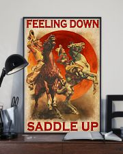 Horse Riding Feeling Down Saddle Up 24x36 Poster lifestyle-poster-2