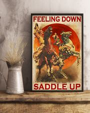Horse Riding Feeling Down Saddle Up 24x36 Poster lifestyle-poster-3