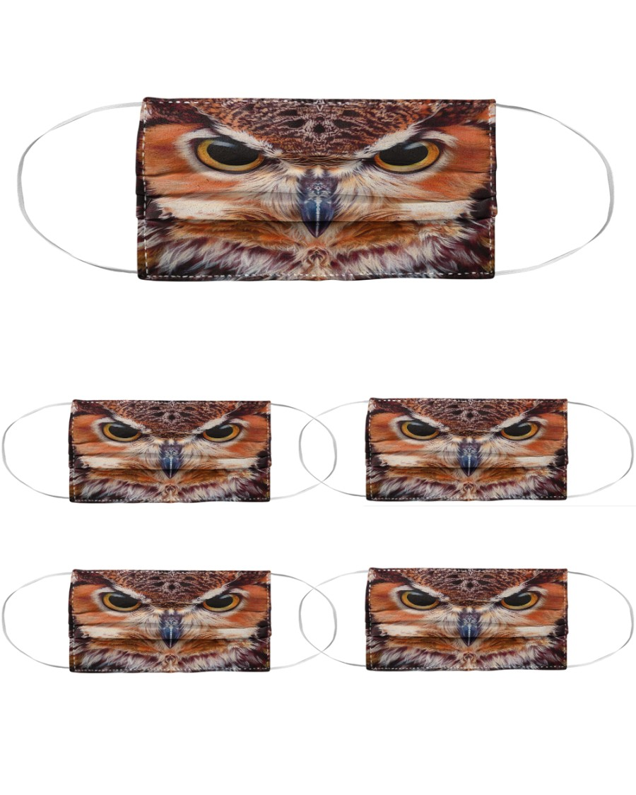 Owl Cloth Face Mask - 5 Pack