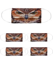 Owl Cloth Face Mask - 5 Pack front