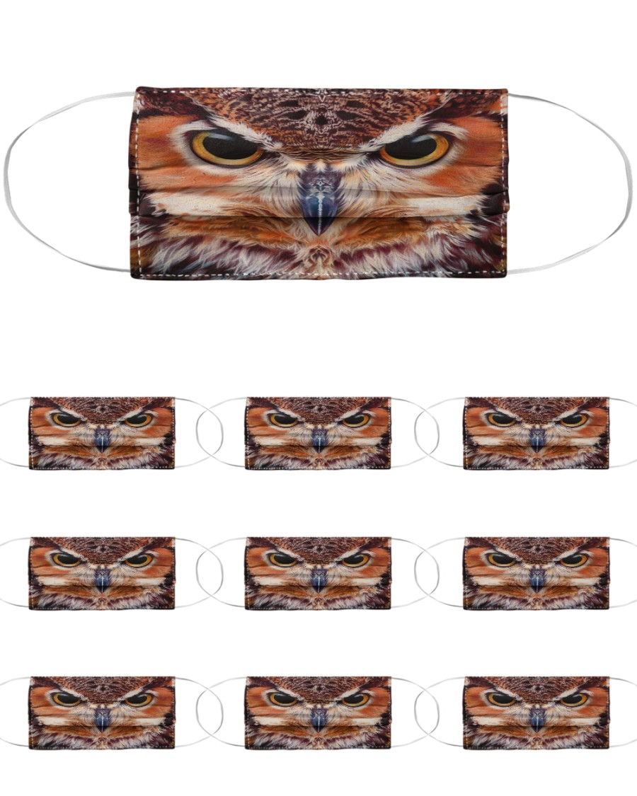 Owl Cloth Face Mask - 10 Pack