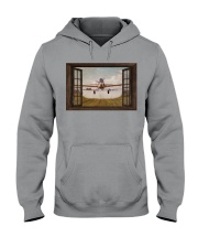 Agricultural Aircraft Window View Hooded Sweatshirt tile