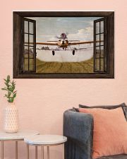 Agricultural Aircraft Window View 36x24 Poster poster-landscape-36x24-lifestyle-18