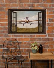 Agricultural Aircraft Window View 36x24 Poster poster-landscape-36x24-lifestyle-20