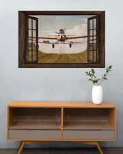 Agricultural Aircraft Window View 36x24 Poster poster-landscape-36x24-lifestyle-21