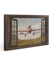 Agricultural Aircraft Window View Gallery Wrapped Canvas Prints tile