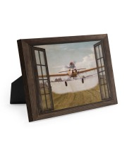 Agricultural Aircraft Window View Easel-Back Gallery Wrapped Canvas tile