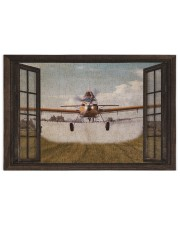 Agricultural Aircraft Window View Puzzles tile