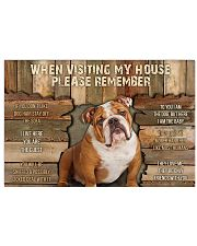Bulldog When Visiting  36x24 Poster front