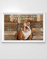 Bulldog When Visiting  36x24 Poster poster-landscape-36x24-lifestyle-02
