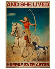 Girl Loves Archery And Dogs Live Happily 2 Vertical Poster tile