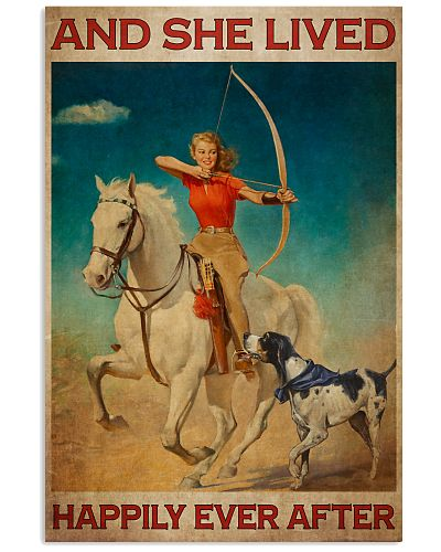 Girl Loves Archery And Dogs Live Happily 2