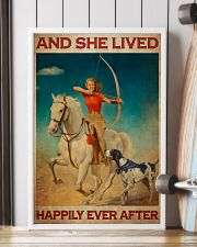 Girl Loves Archery And Dogs Live Happily 2 24x36 Poster lifestyle-poster-4