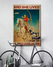 Girl Loves Archery And Dogs Live Happily 2 24x36 Poster lifestyle-poster-7