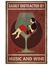 Music And Wine Woman  24x36 Poster front