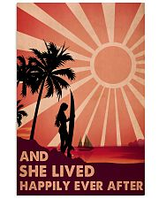 Girl Surfing Live Happily 24x36 Poster front