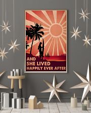 Girl Surfing Live Happily 24x36 Poster lifestyle-holiday-poster-1
