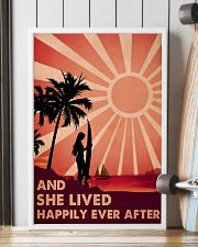 Girl Surfing Live Happily 24x36 Poster lifestyle-poster-4