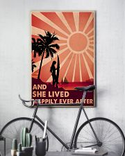 Girl Surfing Live Happily 24x36 Poster lifestyle-poster-7