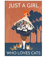 Girl Loves Cats 24x36 Poster front