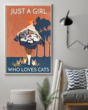 Girl Loves Cats 24x36 Poster lifestyle-poster-1