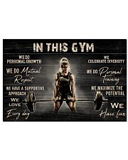 In This Gym  36x24 Poster front