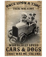 Boy Loved Cars And Dogs 24x36 Poster front