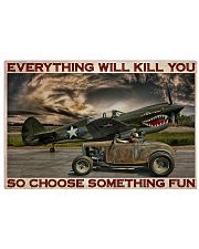 Hot Rod And Airplane Choose Something Fun 36x24 Poster front