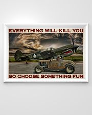 Hot Rod And Airplane Choose Something Fun 36x24 Poster poster-landscape-36x24-lifestyle-02