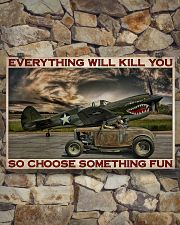 Hot Rod And Airplane Choose Something Fun 36x24 Poster poster-landscape-36x24-lifestyle-15